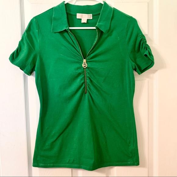 Michael Kors Collared Zip-down Shirt